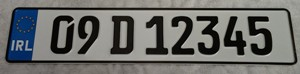 Aluminium German Font Oblong Number Plates