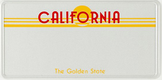 US Pressed Metal Plate California (Single)