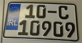 Motorbike Plate White 240mm x 135mm - German Font