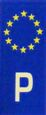 P-Euro Flag Sticker